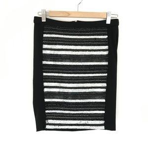 Haute Hippie Beaded Front Black Mini Skirt Size XS